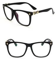 High qualtiy Fashion glasses vintage eyeglasses plain mirror optical glasses brand women men glasses oculos de sol gafas G026