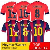 Top Thai NEYMAR JR Jersey 2015 PIQUE I.RAKITIC PUYOL XAVI Soccer Jersey MESSI Camiseta INIESTA SUAREZ Shirts BEKO Player Version