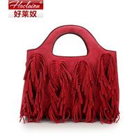 Fall 2014 new tassel fashion handbag shoulder inclined shoulder bag dinner party