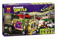 Bo le authentic Ninja series street chase assembled educational building blocks toys