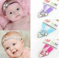 2014 New Baby Headband Fashion Pearl Crown Baby Headbands Elastic Band Baby Hair Band 10 pieces / lot 0093