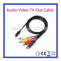 AV A/V Audio Video TV-Out Cable Cord Lead For Sony Camcorder Handycam DCR-HC26/e SR5E SR7E SR8E SR10E SR11E SR12E SR42E SR42E