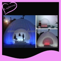 2014 Gus-LT-191A  6meters Hotest  Advertising Inflatable tent with LED colorful lights for outside to add atmosphere