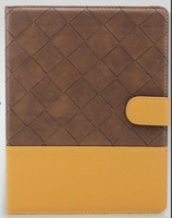 Brown+Yellow PU Leather Smart Stand Case Cover for Apple New iPad iPad 2 3 4
