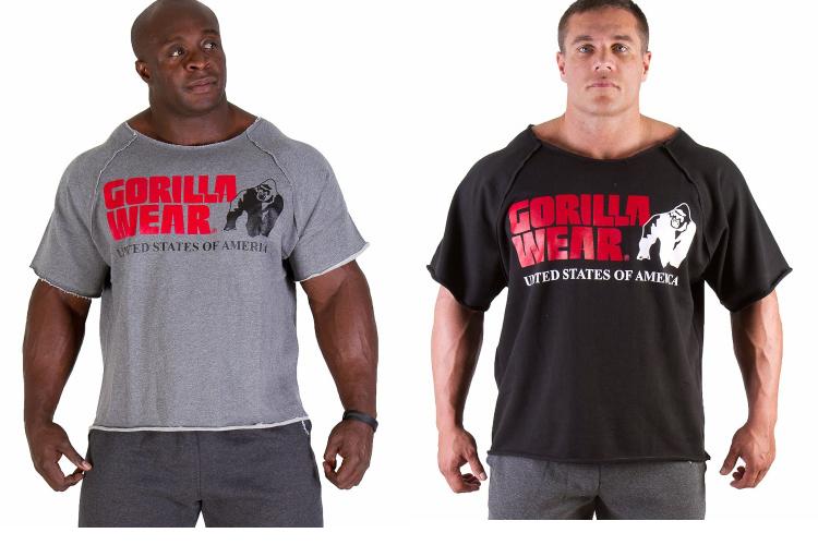 marca gorilla 2014 desgaste camisa casual para homens musculação e fitness pano camisa muscular ginásio sportwear mundo plus size(China (Mainland))