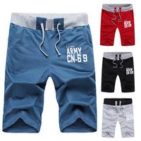 2014 Autumn summer fashion Beach casual short sport Casual men's shorts gray black Free shipping