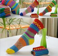 Free Shipping 2014 new Fashion Many color women thicknessing socks warm socks Hosiery girls socks Vintage women 3pairs/lot