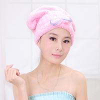 Free shipping Korean version of the super-absorbent towel dry hair cap shower cap Kuaisuganfa thick coral velvet turban