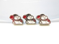Christams Holiday Snowman Floating Charm Floating Locket charm Fits Living lockets 20pcs/lot Free shipping