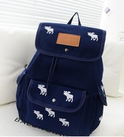 Unisex Canvas Backpack Teenager printing backpack Fawn  backpacks free shipping
