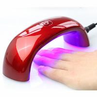 2014 Portable 6W 100-240V LED Light Bridge shaped Mini Curing Nail Dryer Nail Art Lamp Care Machine for UV Gel EU Plug