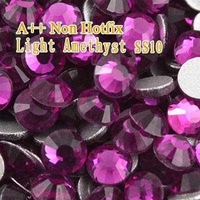 Aomei A++ SS10 1440pcs/lot Light Amethyst Nail Art ideas,Non hot fix rhinestone Flat Back No Hotfix Nail starss naill rhinestone(China (Mainland))