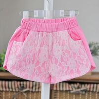 summer baby children girls lace cotton shorts BB CLOTHING  BB406SR-08FC