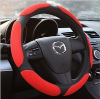 free shipping Hot Selling Popular Sport Style 38cm 3D sandwich mesh car  Steering Wheel Cover 7 Colors ST-2