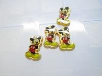 Mickey Golden Back Floating Charm Floating Locket charm Fits Living lockets 20pcs/lot Free shipping