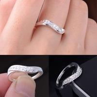 Fashion Ring Vintage Style Silver Plated Rings Made with Austrian Crystal Engagement Wedding Ring for Women