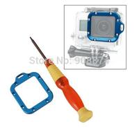 Go3 Accessories Blue/Orange Aluminum Alloy Lens RING Mount + Screwdriver For GoPro Go Pro Hero3