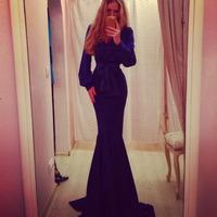 014 Star Dress long temperament Lantern Sleeve Dress burst dresses bandage long bodycon dress frozen dress elsa dress