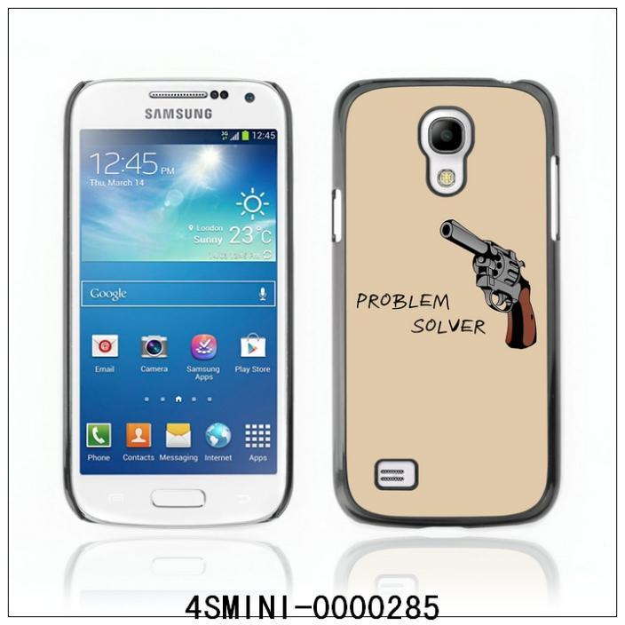 Funny Gun Poster-FOR SAMSUNG Galaxy S4 mini i9190 Plastic Hard Back Case Cover Shell (4SMINI-0000285)(China (Mainland))