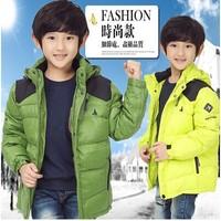 2014 Winter New Children Boy Brand Down Jacket Thicken Warm Hooded 80% White Duck Down Jacket Coat Boys Fashion Outerwear Coat