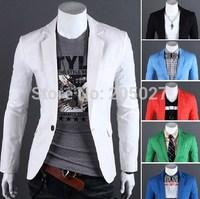 Free Shipping 2014 New Blazer Men Plus Size 3XL 6 Colors.Fashion Casual men's suits blazer men N-5