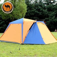 Genuine camel outdoor camping tent 3-4 person multiplayer automatic double spinning automatic camping tent free shipping