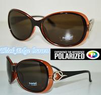 2015 Thick Edge brown customized Driver's TAC enhanced polarized polaroid polarised golf fishing ski UV 400 women sunglasses