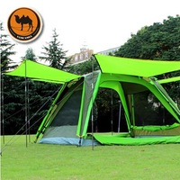 Genuine camel outdoor camping tent 3-4 person multiplayer automatic double- spinning professional camping tent free shipping