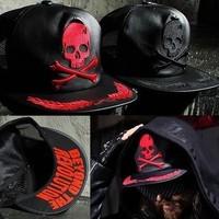 Brand 2014 Street Casual Skull Hat Fashionable Men And Women Couple Hip-hop Cap Baseball Cap Flat-brimmed Hat Mesh Cap