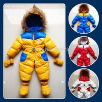 Newborn boys girls winter down romper ,baby down jumpsuit outerwear coats Snow duck down Jacket winter warm hoodies