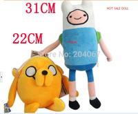 2014 New Plush Stuffed Doll  Adventure TimeS Finn Jake  Movice Cartoon DesignToy Anime Toy 2pc/set free ship MTY018