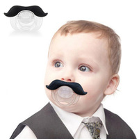 High Quality Funny Infant Silicone Chill Baby Mustache Pacifier teat