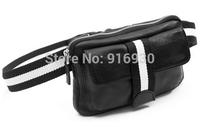Fashion Black Brown Mobile phone man bag high quality PU waist pack male shoulder bags Free shipping #270