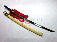 Battle ready Clay tempered cyclone tsuba Japanese katana sword adsorb tungsten sharp blade