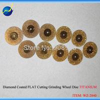10 PCS 0.9 inch Diameter 22mm Double Sided Diamond Coated FLAT Cutting Dremel Grinding Wheel Disc Angle Grinder TITANIUM