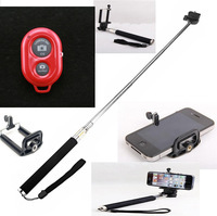 Selfie Rotary Extendable Handheld Camera Tripod Mobile phone Monopod+ Wireless Bluetooth Remote Control for phone i9300 i9500 5S
