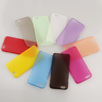 New arrival! 1PC/Lot 0.3mm ultrathin Hard phone case for iphone 6 back cover frosted case high quality 10 colors -I39