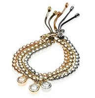 Luxury Brand High Quality Copper Beads Bangles Bracelets Jewelry For Women Free Shipping Hot Selling