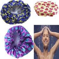 1Pcs Waterproof Shower Cap,Beauty Care Accessories Shampoo Bath Shower Caps, Hotel Shower Hat ,6 Colors Bath Hats ej672823