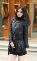 7XL 2014 New Women Winter Lace Cotton Parkas Coat 6XL Plus Size Jackets Women's Coat