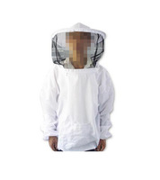 1Pcs Beekeeping Jacket Veil Smock Bee Keeping Hat Sleeve Suit Beekeeper Uniforms Workwear Protective Safety Clothing ej871460