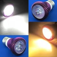 6 Pcs/lot Pure White/Warm White LED Light Bulb Lamp E27 1W/3W AC90-265V Energy Saving Spotlight Purple