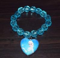 50sets Frozen Elsa Queen's Crown Magic Wand Frozen Bracelets sets