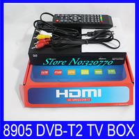 Wholesale 5Pcs Free 8905 Digital DVB-T Terrestrial Receiver TV Tuner BOX HD DVB-T2 STB Support Russia Thailand OSD&multiple PLP