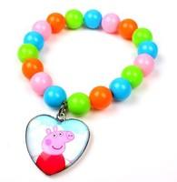 50pcs 2014 New Peppa Pig Candy Color Bracelets Frozen Bracelets Asa Bracelets Children's Gift Bracelets