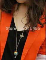 N2026  fashion Telescope Globe necklace jewelry