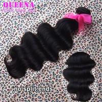 "Grade 5A,1pc/lot brazilian virgin hair body wave unprocessed human hair weaves 8""-30"" natural black color nice wavy"