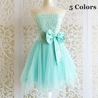 Hot sale 2014 autumn new design light green color embroidery lace gauze bridesmaid dresses,sexy cute tube tops vestido de festa