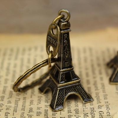 5cm Bronze Tone Paris Eiffel Tower Figurine Statue Vintage Alloy Model Decor(China (Mainland))