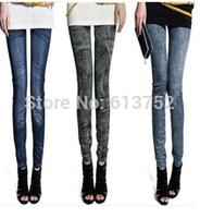 2014 New Leggings Women Jeans Legging  Warm Slim Denim Pencil Pants Fitness
